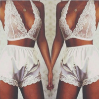 White Lace Pajamas B0014906