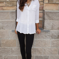 White Collard Tunic