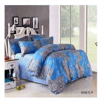 Bed Quilt Duvet Sheet Cover 4PC Set Upscale Cotton 100% 021
