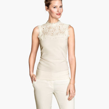 H&M Top with Lace Yoke $24.95