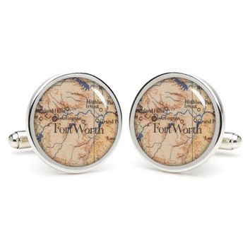 Fort  Worth cufflinks , wedding gift ideas for groom,gift for dad,great gift ideas for men,groomsmen cufflinks,