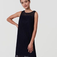 Fan Lace Shift Dress | LOFT
