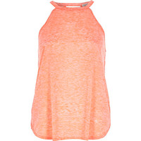 River Island Womens Coral neppy sleeveless top