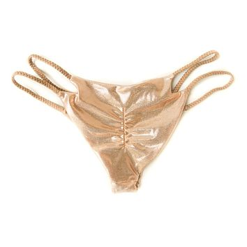 Rose Gold Jewel Cheeky Bikini Bottom- Limited Time Offer
