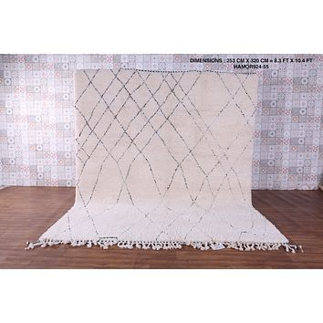 Large wool rug,  8.3 FT X 10.4 FT