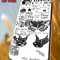 17 Black Tattoo Collage 1D One Direction for iPhone 4/4S/5/5S/5C Case, Samsung Galaxy S3/S4/S5 Case, iPod Touch 4/5 Case