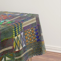 African style patchwork design tablecloth