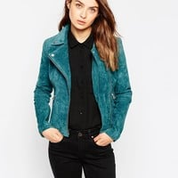 Pop CpH Suede Biker Jacket at asos.com