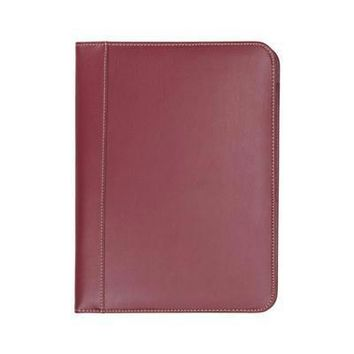 Padfolio Contrast Stitch Red