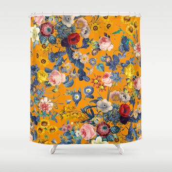Summer Botanical Garden IX Shower Curtain by burcukorkmazyurek