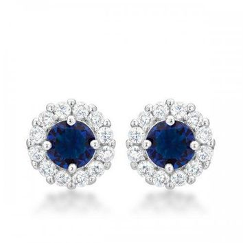 Bella Bridal Earrings In Blue (pack of 1 ea)