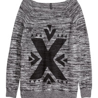 H&M - Knit Sweater - Black - Ladies