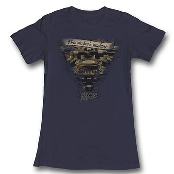 Very Elaborate Back To The Future Juniors Tee Shirt