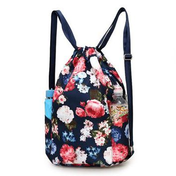 Sports gym bag Waterproof Drawstring Gym Sack Bag Outdoor Sports Fitness Gym Backpack For Girls'  Gymnastics Training Bags For Women KO_5_1
