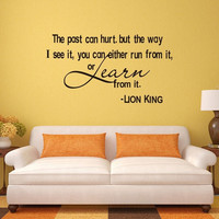 The Past Can Hurt Quote Wall Sticker Home Decor Vinyl Removable Art Mural Decals = 1705935620