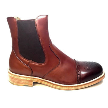 Tony's Casuals Men's Leather Chelsea Boots