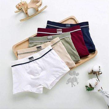 2016 new fashion Brand high quality boys cotton boxer shorts panties kids underwear for 2-16 years old teenager 5 pcs/lot ctnm