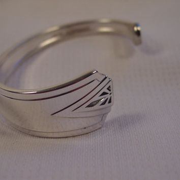 A Spoon Rings Plus Spoon Cuff Bracelet  See Description For Size Vintage Fork and Spoon Jewelry c106