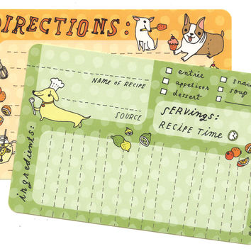 Dog Recipe Cards (Set of 10)