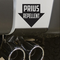 Prius Repellent Funny Bumper Sticker Vinyl Decal JDM Dope Euro Turbo Diesel Jeep BMW Chevy Truck Powerstroke