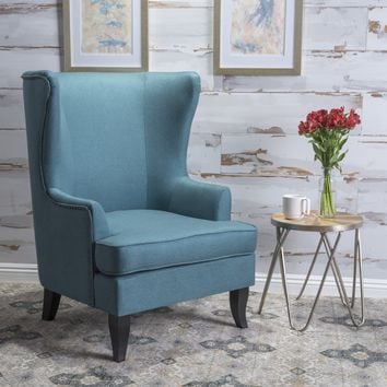Congaree Fabric High Wing Back Chair