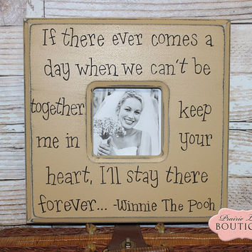 Baby Girl,Frame,Baby Gift, 12x12, KEEP ME in your HEART, Christening, First Birthday, Wedding frame, Winnie the Pooh, Love Quote, Nursery