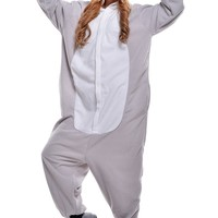 Halloween Costumes Adults Onesuit Sleeping Wear Kigurumi Pajamas Cosplay Costumes (M, gray koala)