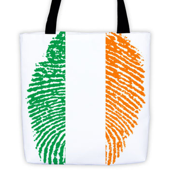 Irish Fingerprint Flag Tote bag