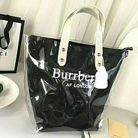 Burberrys Fashion Multicolor Women Shopping Bag Satchel Shoulder Bag Handbag Tote Black I-WXZ2H