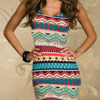 Geometric Print Bodycon Dress