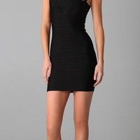Herve Leger Crisscross Strap Dress