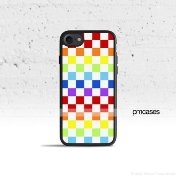 Rainbow Checkered Phone Case Cover for Apple iPhone iPod Samsung Galaxy S & Note
