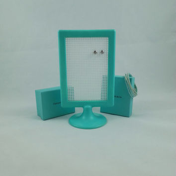 Tiffany Blue Earring Organizer; Jewelry Rack; Earring Holder; Stud Holder
