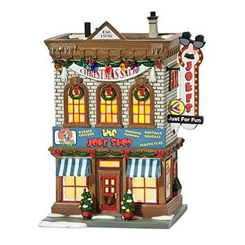 Department 56 A Christmas Story Village Lit Miniature Building, Joke Shop