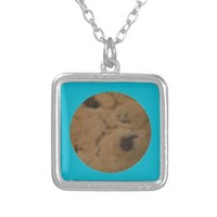 COOKIE! SILVER PLATED NECKLACE