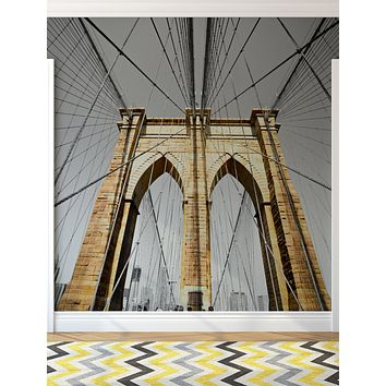 New York City Brooklyn Bridge Wall Mural #6042