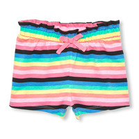 Toddler Girls Matchables Printed Knit Paperbag Shorts | The Children's Place