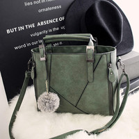 Leather Chic Chic Crossbody Handbag Shoulder Bag +Free Gift Necklace