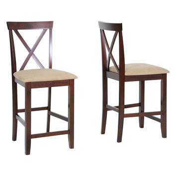 Design Studios Natalie Counter Stools (Set of 2) - Brown