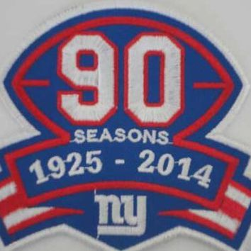 USA america football NEW YORK NY GIANTS 1925-2014 90TH  SEASON COMMEMORATIVE PATCH
