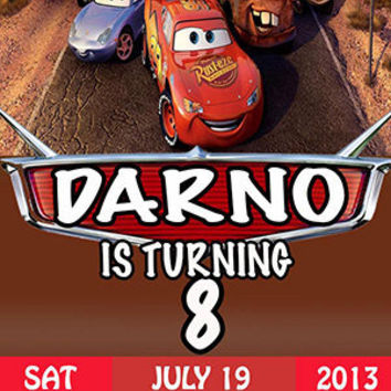 DIY Printable Disney Cars Invitation