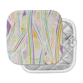 "Emine Ortega ""Graphique White"" Pot Holder"