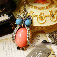New Fashion Retro Style Long Owl Clavicle Chain Sweater Necklace Free Ship 2820 | eBay