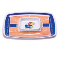 NCAA Kansas Jayhawks Chip & Dip Tray