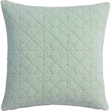 "august quilted mint 16"" pillow"
