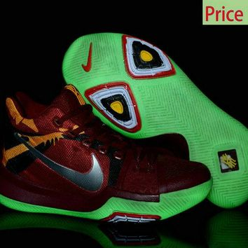 How To Buy Kyrie Irving Nike New Shoes Kyrie 3 Cavs Color Glow In The Dark Green Glow sneaker