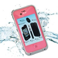 Leang Waterproof Shockproof and Dirtproof Case for iPhone 4 4S Life Dirt Proof Case - Pink + Cleaning Cloth:Amazon:Cell Phones & Accessories