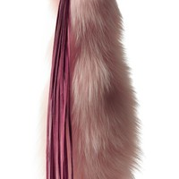 Pink fox tail keychain fashion accessory