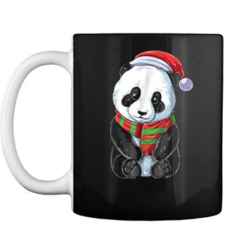Panda Christmas Santa Kids Girls Boys Xmas Gifts Tee Mug