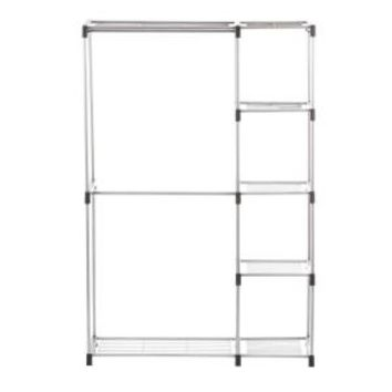 Whitmor Supreme Garment/Closet Collection 45.37 in. x 68 in. Double Rod Closet Shelves 6779-3044 at The Home Depot - Mobile